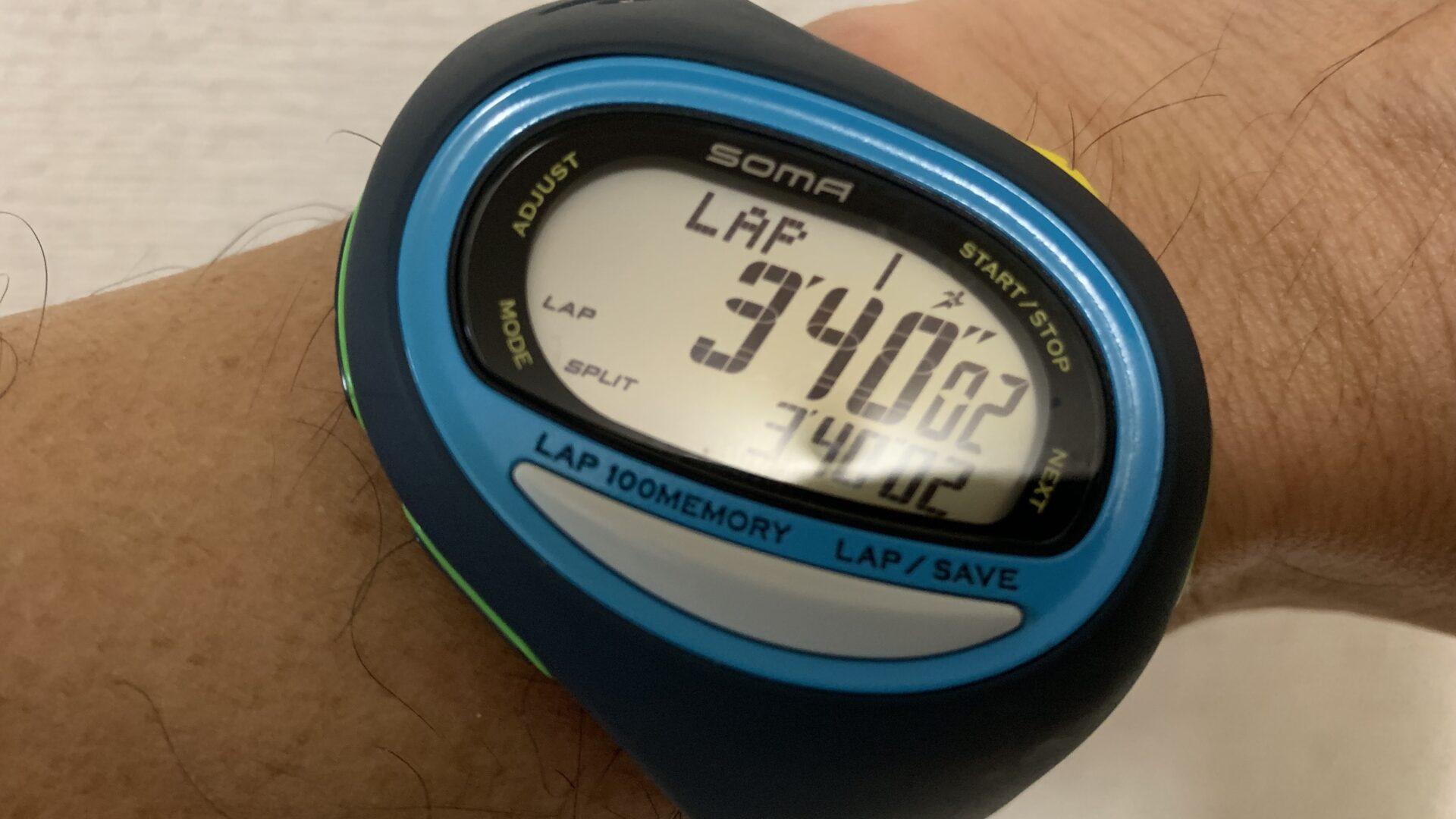 1キロインターバルではっきりした現在の自分の3分40秒/kmペースの余裕度