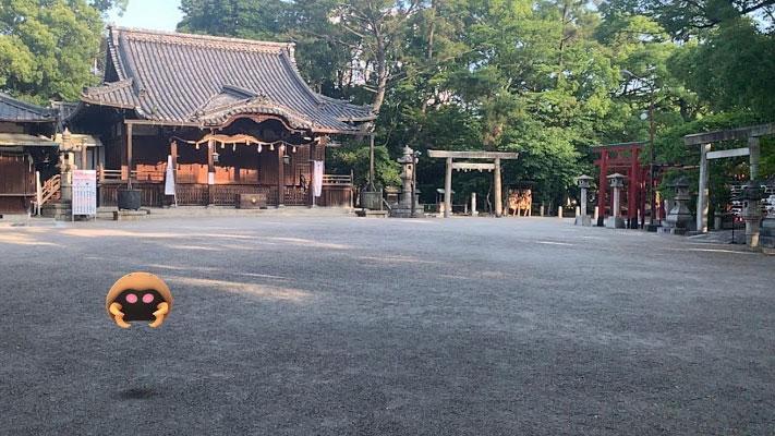 ポケモンGOと走る東海道五十三次4(四日市・旧四日市宿⇔諏訪神社)