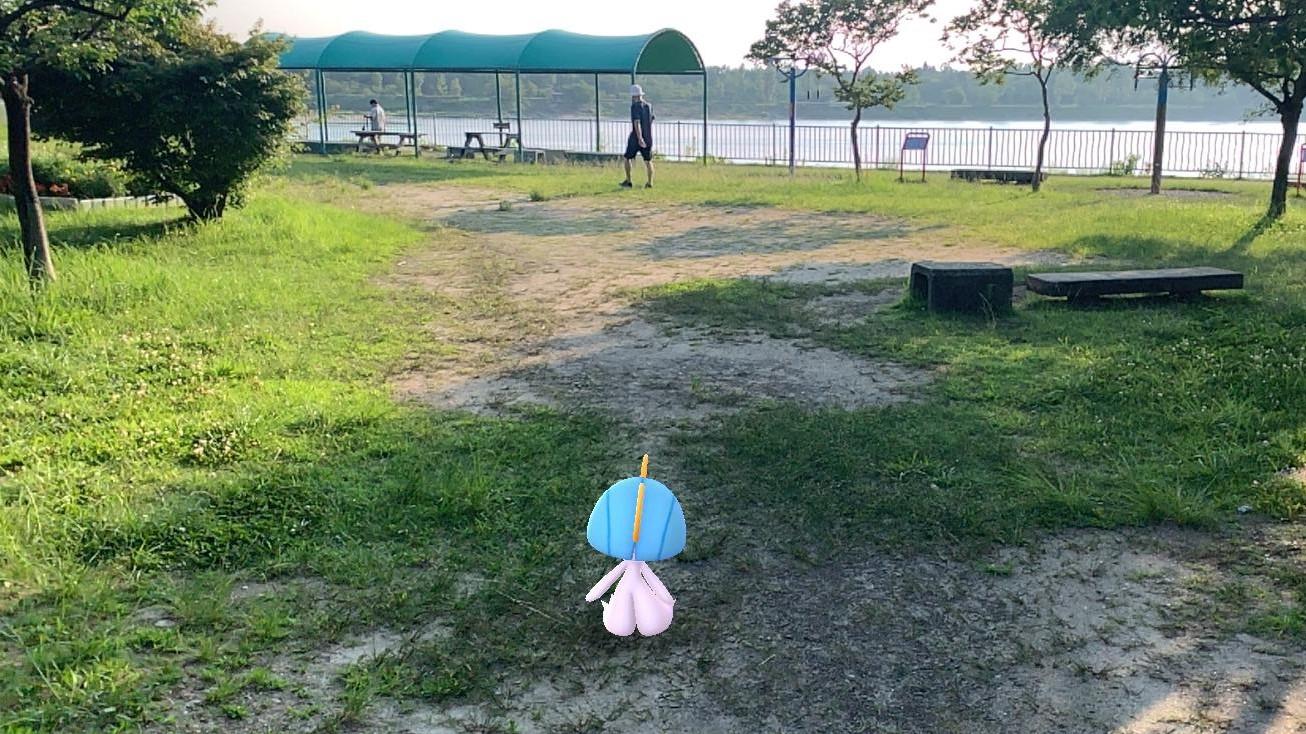 コミュニティ・デイのため「ポケモンGO」とともに伊坂ダム周辺をブラ歩き